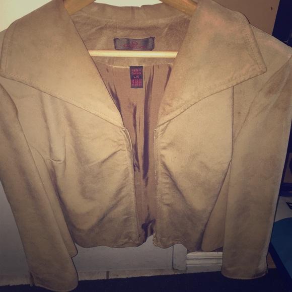 Danier Suede jacket with zipper